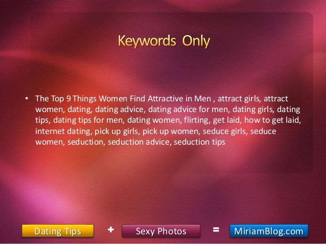 How to women find men attractive on dating sites