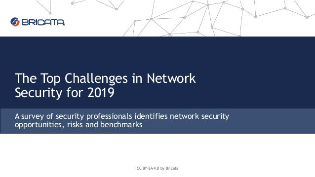 The Top Challenges in Network Security for 2019 A survey of security professionals identifies network security opportuniti...