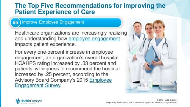 The Top Five Recommendations For Improving The Patient