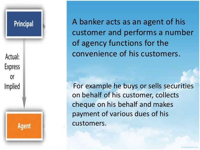 the relationship between a banker and Banks and fiduciary relationships n the ordinary case of banker and customer 'existence of a fiduciary relationship between bank and depositor or customer so.