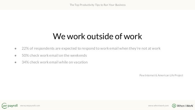 The Top Productivity Tips to Run Your Business