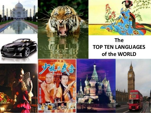 The Top Ten Spoken Languages Of The World - Top ten spoken languages