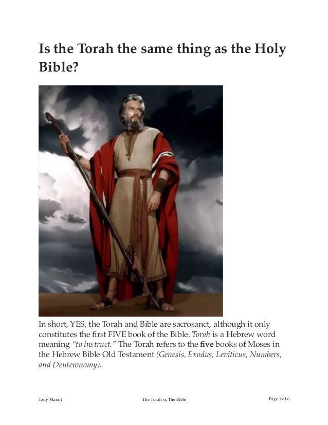 The Torah vs Bible