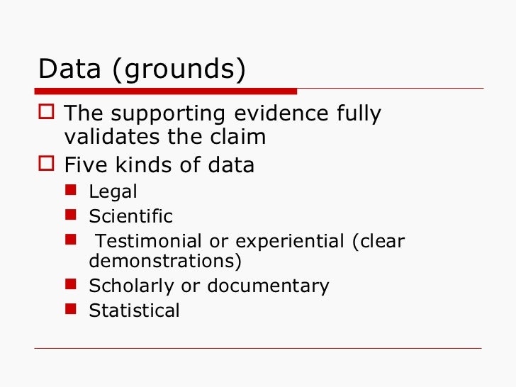 thesis claim lead in data warrant Category of claim, subclaim, or warrant 3 support of the main claim unlike a thesis statement what data can be offered in support of the.