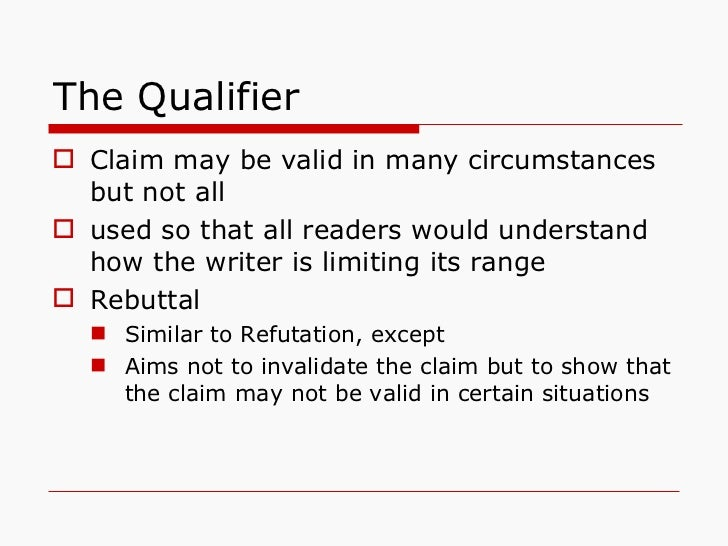 Qualifiers In A Toulmin Essay Sample - Essay For You