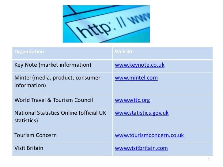 Organisation                              WebsiteKey Note (market information)             www.keynote.co.ukMintel (media,...