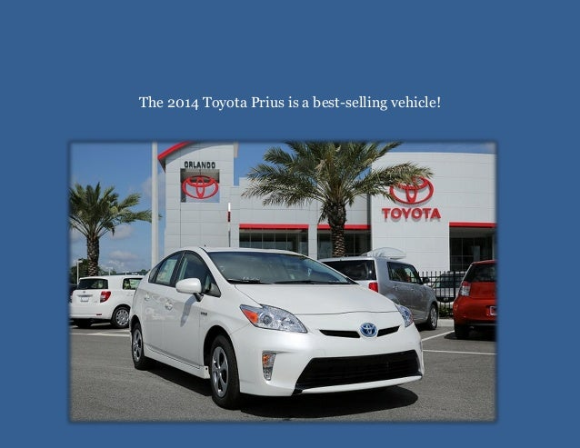 The 2014 Toyota Prius is a best-selling vehicle!