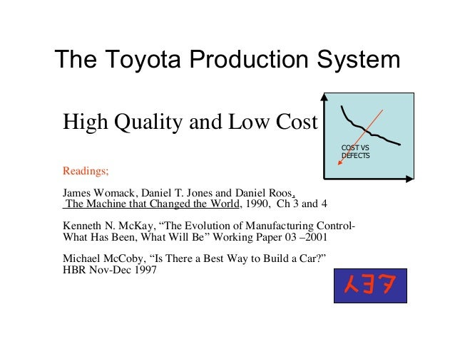 The Toyota Production System High Quality and Low Cost Readings; James Womack, Daniel T. Jones and Daniel Roos, The Machin...