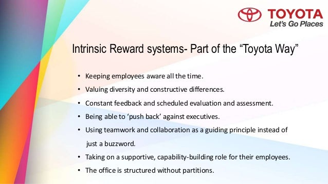 toyota reward system