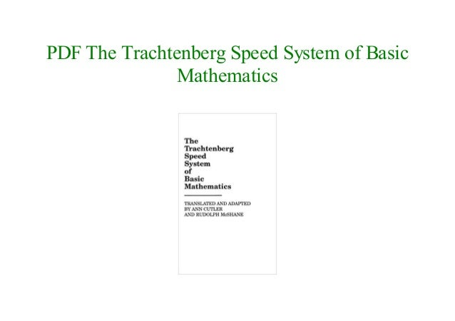 Trachtenberg Speed System Of Basic Mathematics Pdf