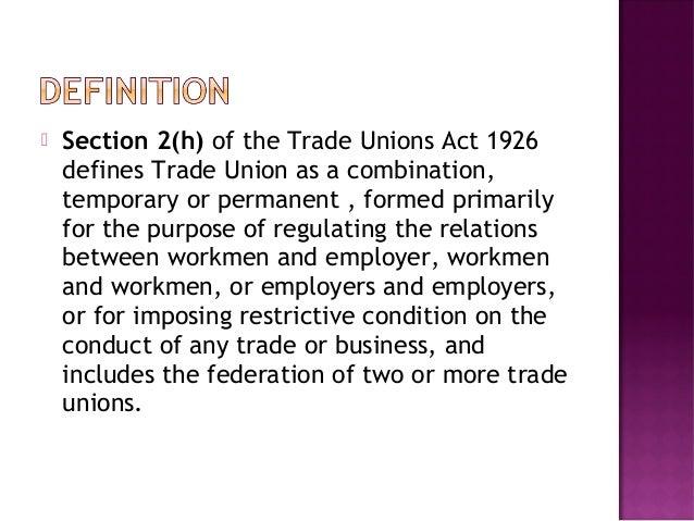 purpose of trade unions