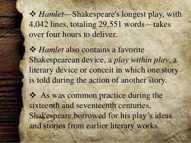 The tragic tale of hamlet