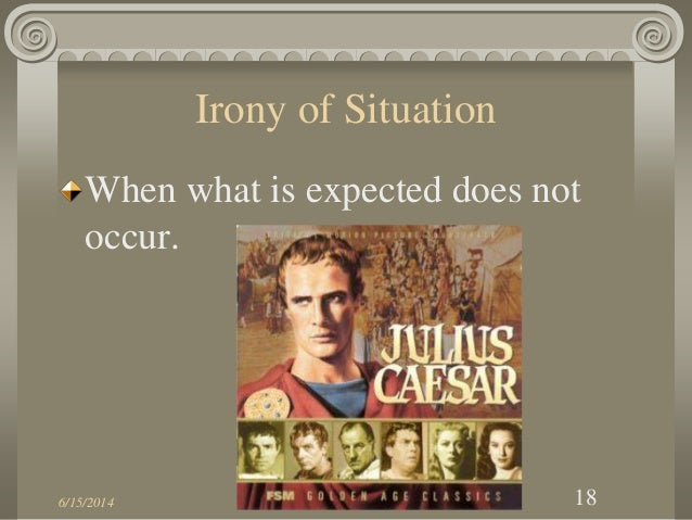 How does irony illustrate a theme in Shakespeare's Julius Caesar?