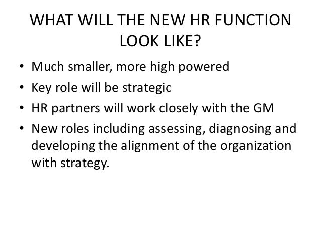 mnaging the hr function essay Uk essays - download as word  strategic human resource management involves the linking of hrm with the strategic goals and  the hrm function and the strategic .