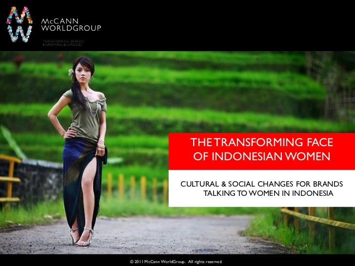 THE TRANSFORMING FACE                              OF INDONESIAN WOMEN                         CULTURAL & SOCIAL CHANGES F...
