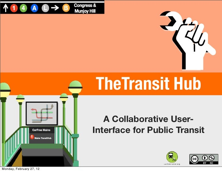 Text                          TheTransit Hub                             A Collaborative User-                          In...