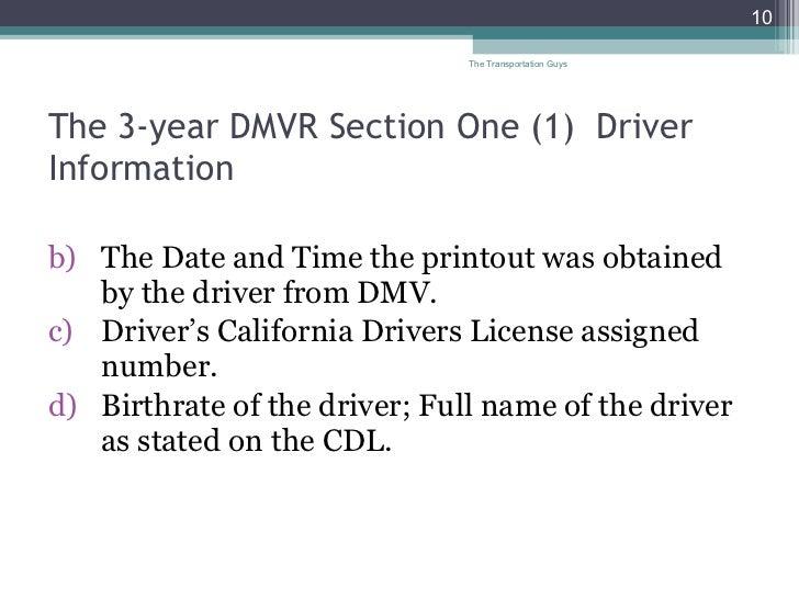 The transportation guys dmv 2