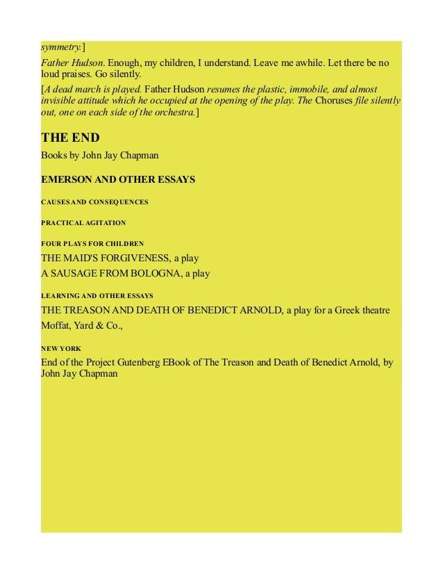 Benedict arnold essay