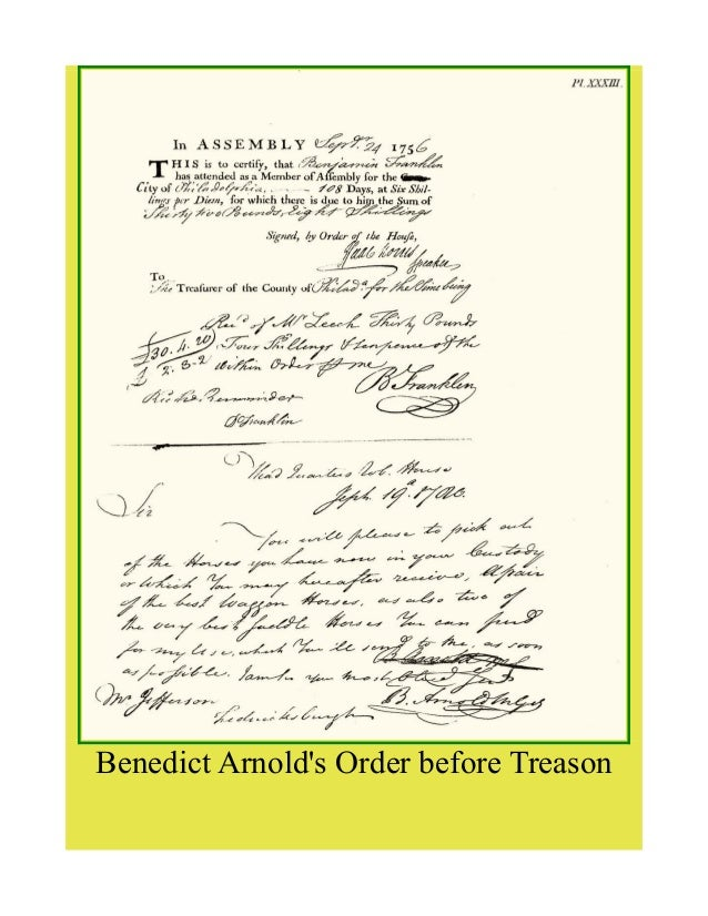 benedict arnolds treason essay Read this american history essay and over 88,000 other research documents benedict arnold prior to his act of treason, benedict arnold was highly regarded as.
