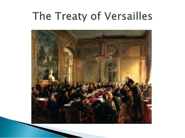 the big four of the treaty of versailles The treaty was signed today at versailles at 10:30 am washington time phillips and i sat in the telegraph room on the 4 th floor of the dept and had a direct wire from there to versailles - with only two relays, one at london and one at newfoundland, where it went into and came out of the submarine cable.