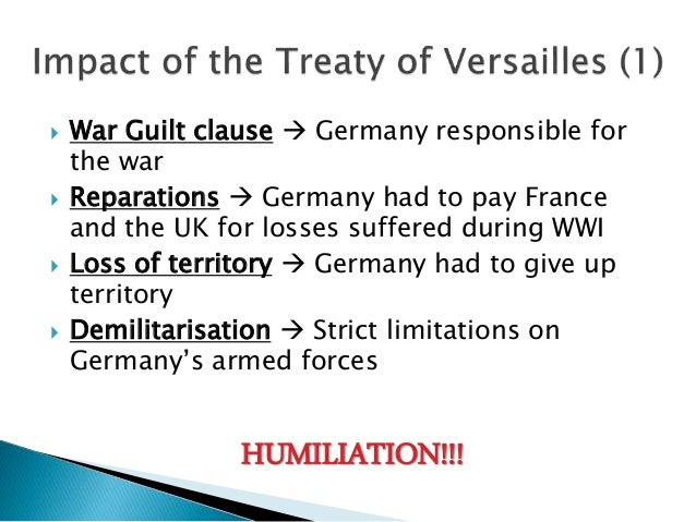 why was the treaty of versailles The treaty of versailles between germany and the allied powers was signed on june 28, 1919, five years to the day after franz ferdinand's assassination in sarajevo adopting wilson's fourteenth point, the treaty created a league of nations.
