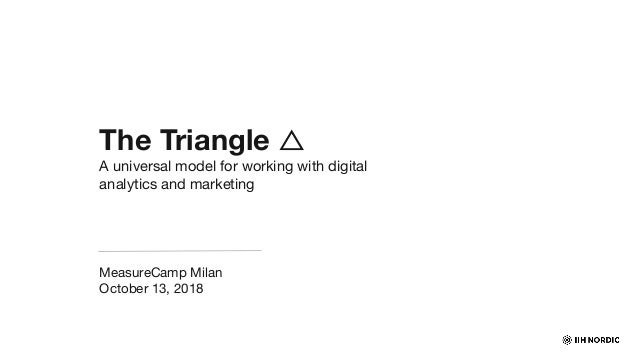 The Triangle △ A universal model for working with digital analytics and marketing MeasureCamp Milan October 13, 2018