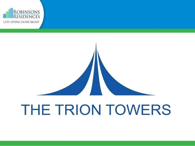 VICINITY MAP  The Trion Towers is located in Eighth Avenue cor. McKinley Parkway, Bonifacio Global City