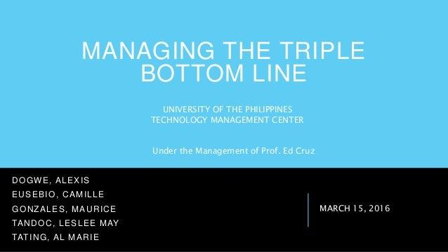 the tripple bottom line pdf