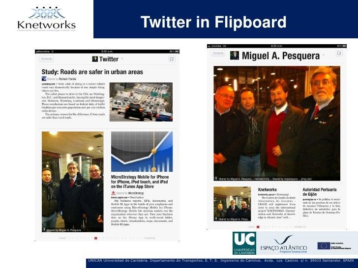 Twitter in FlipboardUNICAN Universidad de Cantabria. Departamento de Transportes. E. T. S. Ingenieros de Caminos. Avda. Lo...