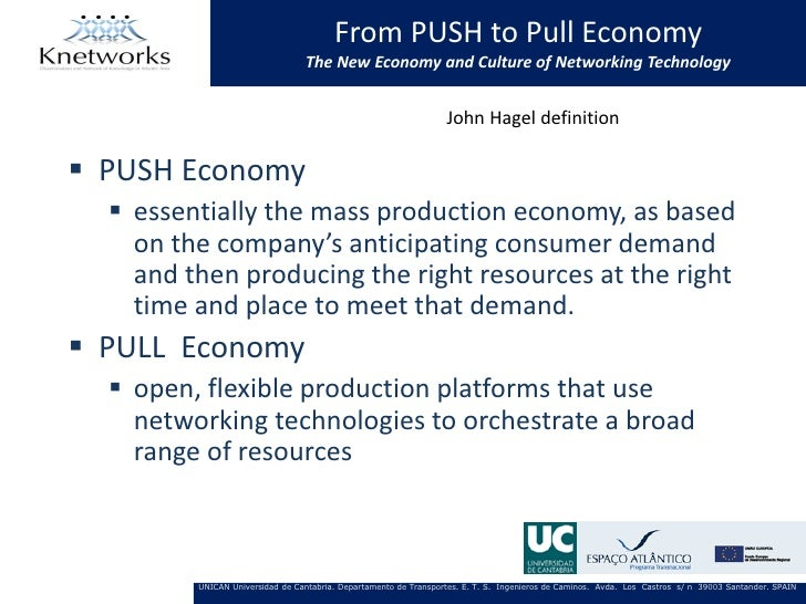 From PUSH to Pull Economy                                 The New Economy and Culture of Networking Technology            ...