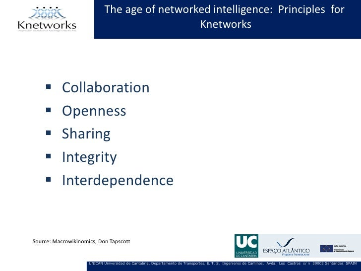 The age of networked intelligence: Principles for                                              Knetworks          Collabo...