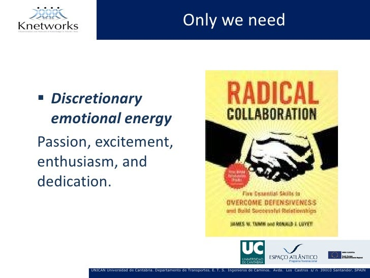 Only we need Discretionary  emotional energyPassion, excitement,enthusiasm, anddedication.       UNICAN Universidad de Ca...
