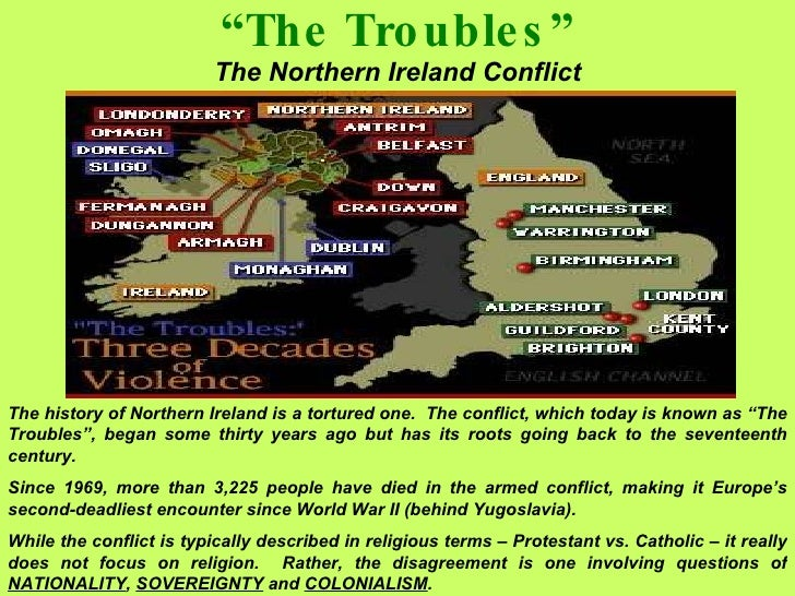 "causes northern ireland conflict essay Critical evaluation of the main causes of ""the troubles"" in northern ireland in this paper, it is conflict and cleavage in northern ireland."