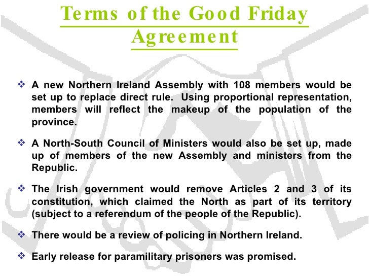 good friday agreement essay Category: free essays title: the good friday agreement.