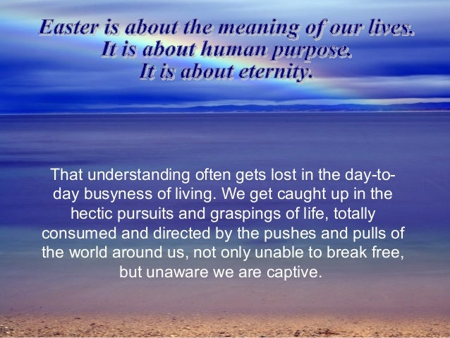 What Is The Real Meaning Of Easter Photo Album - The Miracle of Easter