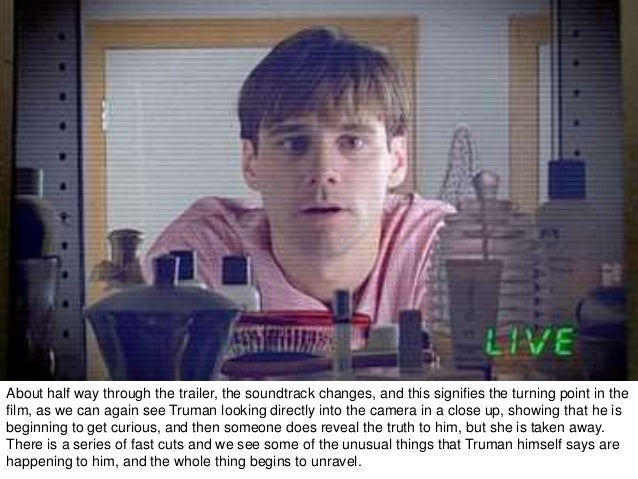 Analysis of 'The Truman's Show' in search of reality Essay