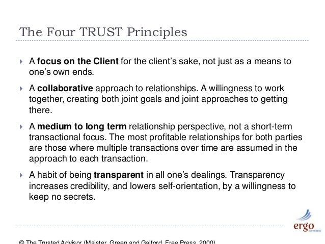 The TRUST Equation