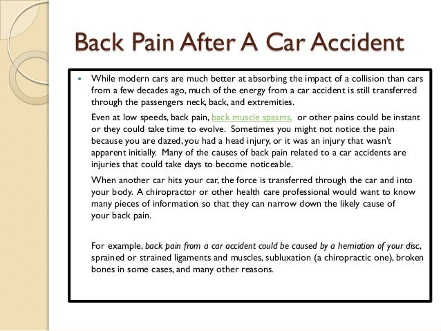 Back Muscle Spasms After Car Accident