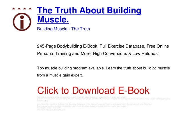 The Truth About Building Muscle Ebook