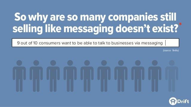 So why are so many companies still selling like messaging doesn't exist? 9 out of 10 consumers want to be able to talk to ...