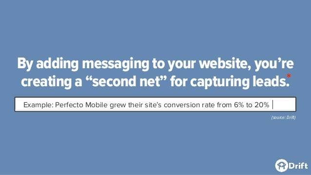 """By adding messaging to your website, you're creating a """"second net"""" for capturing leads. Example: Perfecto Mobile grew the..."""