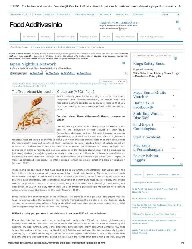 11/13/2015 TheTruthAboutMonosodiumGlutamate(MSG)Part2FoodAdditivesInfo Allaboutfoodadditivesorfoodsa...