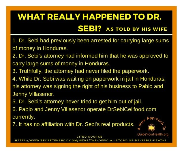 What Really Happened To Dr  Sebi