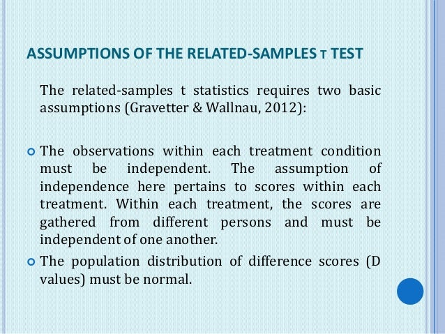 The t Test for Two Related Samples