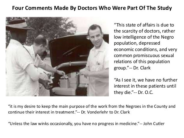 ethics in research the tuskegee syphilis The rural setting of tuskegee were exploited by the investigators of the syphilis study who led the fair methods for reviewing research studies (by ethics.