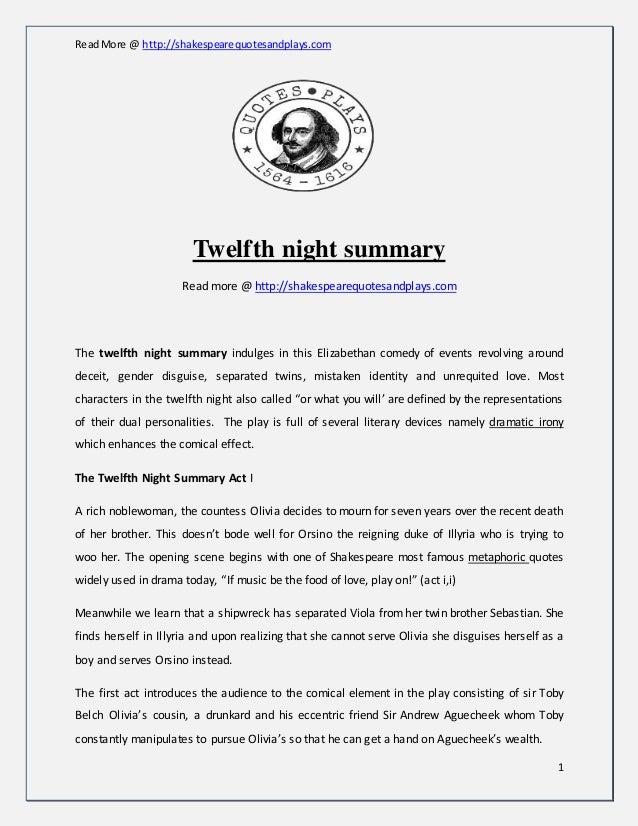 twelfth night act 1 scene 3 summary