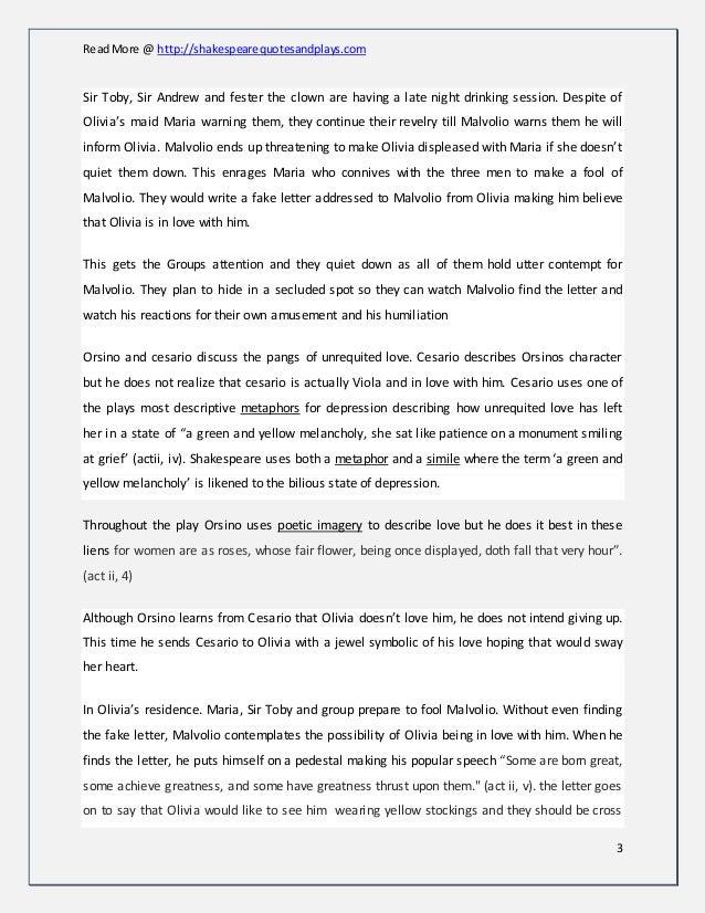 twelfth night story summary