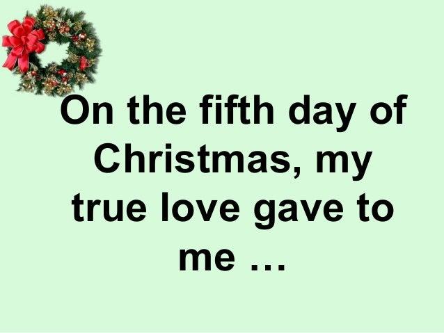 The twelve days of christmas audio
