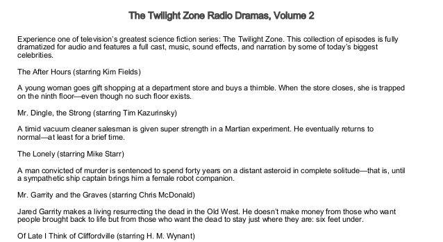 The Twilight Zone Radio Dramas, Volume 2 Free Audio books Trial