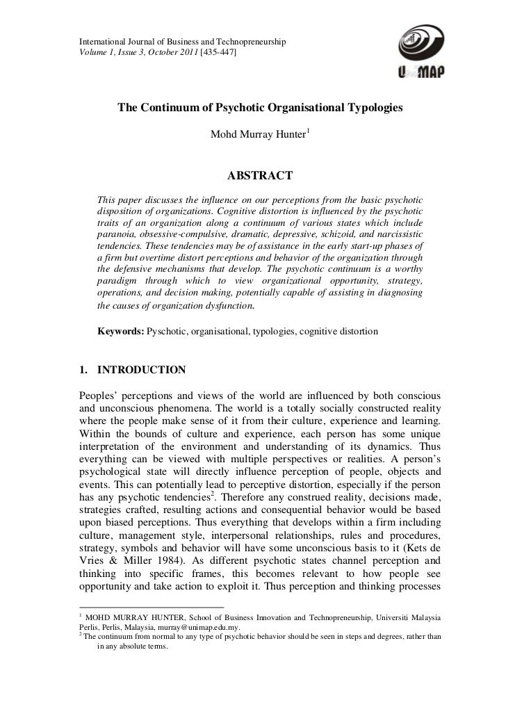 International Journal of Business and TechnopreneurshipVolume 1, Issue 3, October 2011 [435-447]           The Continuum o...